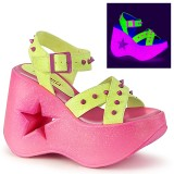 Neon 13 cm Demonia DYNAMITE-02 lolita sandalen wedge sandalen sleehak