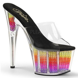 Neon 18 cm ADORE-701SRS Strass steentjes plateau slippers dames