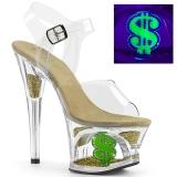 Neon 18 cm MOON-708USD paaldans schoenen met hoge hakken