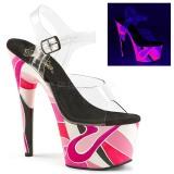 Neon 18 cm Pleaser ADORE-708UVR Platform High Heels Shoes