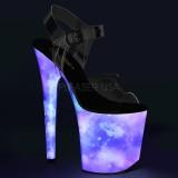 Neon 20 cm FLAMINGO-808REFL paaldans schoenen met hoge hakken