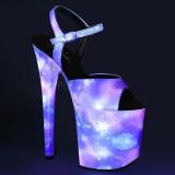 Neon 20 cm FLAMINGO-809REFL paaldans schoenen met hoge hakken