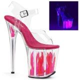 Neon 20 cm Pleaser FLAMINGO-808FLM paaldans schoenen met hoge hakken
