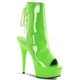 Neon Groen 16 cm Pleaser DELIGHT-1018UV Plateau Enkellaarzen