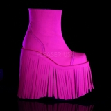 Neon Kunstleer 18 cm SLAY-205 lolita enkellaarzen plateau