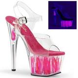 Neon Pink 18 cm Pleaser ADORE-708FLM High Heel Platform