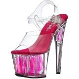 Neon Pink 18 cm Pleaser ADORE-708FLM Hoge Hakken Plateau