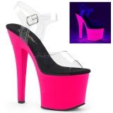Neon Pink 18 cm Pleaser RADIANT-708UV Hoge Hakken Plateau