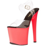 Neon Pink 18 cm Pleaser TABOO-708UV High Heel Platform