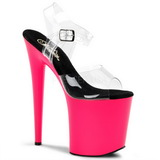 Neon Pink 20 cm Pleaser FLAMINGO-808UV High Heel Platform