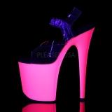 Neon Pink 20 cm Pleaser FLAMINGO-808UV Hoge Hakken Plateau