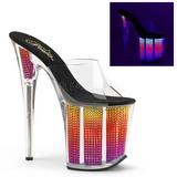 Neon glimsteen 20 cm FLAMINGO-801SRS dames slippers met hak