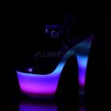 Neon glitter 18 cm Pleaser ADORE-709WR paaldans schoenen met hoge hakken