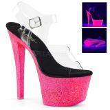Neon glitter 18 cm Pleaser SKY-308UVG paaldans schoenen met hoge hakken