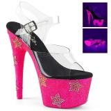 Neon strass steentjes 18 cm ADORE-708STAR paaldans schoenen met hoge hakken