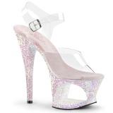 Opaal 18 cm MOON-708LG glitter plateau schoenen dames met hak