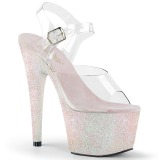 Opaal glitter 18 cm Pleaser ADORE-708HMG paaldans schoenen met hoge hakken