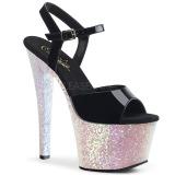 Opaal glitter 18 cm Pleaser SKY-309LG paaldans schoenen met hoge hakken