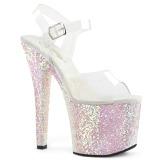 Opal 18 cm RADIANT-708LG glitter high heels shoes