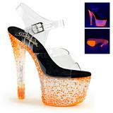 Orange Neon 18 cm Pleaser CRYSTALIZE-308PS Platform High Heels
