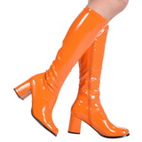 Orange Patent 8,5 cm Funtasma GOGO-300 Women Knee Boots