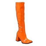 Oranje Lak 8,5 cm GOGO-300 Dameslaarzen met hak voor Heren