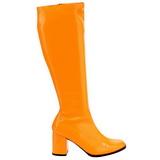 Oranje Neon 7,5 cm FUNTASMA GOGO-300UV Dames Laarzen