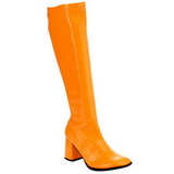 Oranje Neon 8,5 cm FUNTASMA GOGO-300UV Dames Laarzen