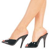 Patent 13 cm Pleaser SEDUCE-101 Women Mules Shoes