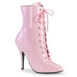 Patent 13 cm SEDUCE-1020 Roze ankle boots high heels