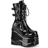 Patent 15 cm WAVE-150 demonia knee boots wedges platform