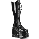 Patent 15 cm WAVE-200 demonia knee boots wedges platform