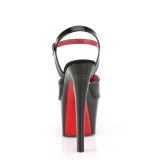 Patent 18 cm SKY-309TT pleaser sandals with red soles