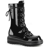 Patent 3 cm LILITH-270 demonia boots platform