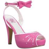 Pink 11,5 cm Pinup BETTIE-01 sandalen met naaldhak