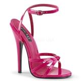 Pink 15 cm Devious DOMINA-108 sandalen met naaldhak