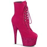 Pink 18 cm ADORE-1020FSMG glitter exotic hakken - pole dance enkellaarzen