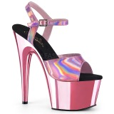 Pink 18 cm ADORE-709HGCH Hologram plateau schoenen dames met hak