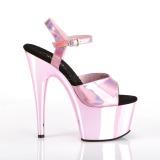 Pink 18 cm ADORE-709HGCH Hologram platform high heels shoes