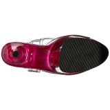 Pink 20 cm FLAMINGO-808T Acrylic Platform High Heeled Sandal