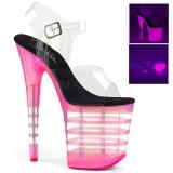 Pink 20 cm FLAMINGO-808UVLN High Heeled Sandal Neon Platform