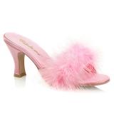 Pink 7,5 cm FLAPPER-01F maraboe veren Mules Schoenen