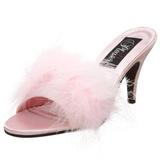 Pink 8 cm AMOUR-03 maraboe veren Mules Schoenen