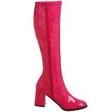 Pink Lak 8,5 cm GOGO-300 Dameslaarzen met hak voor Heren