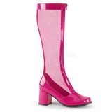 Pink Lak 8,5 cm GOGO-307 Dameslaarzen met hak voor Heren