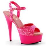 Pink Neon 15 cm Pleaser DELIGHT-609UVG Platform High Heels