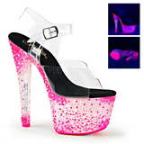 Pink Neon 18 cm Pleaser CRYSTALIZE-308PS Platform High Heels