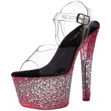 Pink Neon 18 cm Pleaser CRYSTALIZE-308PS Platform High Heels