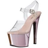 Pink Transparant 18 cm SKY-308 Plateau Hoge Hakken