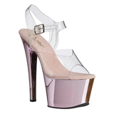 Pink Transparent 18 cm SKY-308 High Heels Platform
